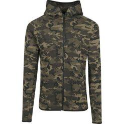 Bluzy męskie: Urban Classics Interlock Camo Zip Jacket Bluza z kapturem rozpinana kamuflaż Woodland