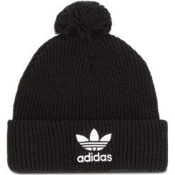 Czapka adidas - Pom Pom Beanie D98942 Black. Czarne czapki damskie Adidas, z materiału. Za 99,95 zł.