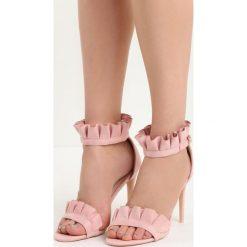 Różowe Sandały Amazing. Czerwone sandały damskie marki Born2be, z materiału, na wysokim obcasie, na obcasie. Za 89,99 zł.