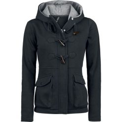 Bluzy rozpinane damskie: Forplay Toggle Jacket Bluza z kapturem rozpinana damska czarny