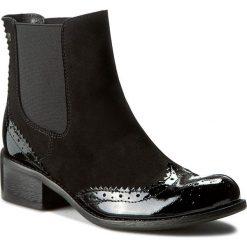 Sztyblety MACCIONI - 138 Czarny. Czarne buty zimowe damskie Maccioni, z lakierowanej skóry. W wyprzedaży za 269,00 zł.