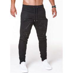 SPODNIE MĘSKIE JOGGERY P705 - CZARNE. Czarne joggery męskie marki Ombre Clothing. Za 89,00 zł.