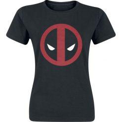 Deadpool Logo Koszulka damska czarny. Czarne bluzki z odkrytymi ramionami Deadpool, xxl, z nadrukiem, z okrągłym kołnierzem. Za 42,90 zł.