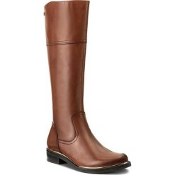 Oficerki CAPRICE - 9-25522-29 Cognac Nappa 303. Brązowe buty zimowe damskie Caprice, ze skóry, na obcasie. W wyprzedaży za 349,00 zł.