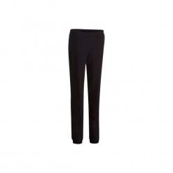 Spodnie dresowe Gym & Pilates FIT+ damskie. Czarne bryczesy damskie DOMYOS, l, z bawełny, na jogę i pilates. Za 34,99 zł.