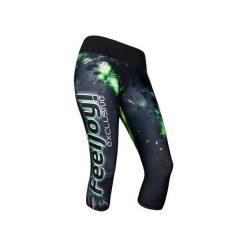 LEGGINSY 7/8 EXCLUSIVE CRYSTALS. Szare legginsy sportowe damskie marki Fasardi, l, w kolorowe wzory. Za 240,00 zł.