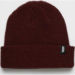 Vans - Czapka. Brązowe czapki zimowe męskie Vans, na zimę, z dzianiny. Za 79,90 zł.