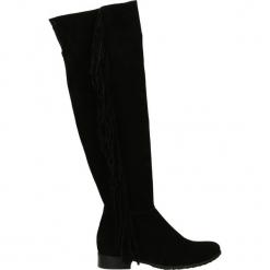 Kozaki ocieplane - S1470 CAM NER. Czarne buty zimowe damskie marki Kazar, ze skóry, na wysokim obcasie. Za 219,00 zł.