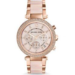 Zegarek MICHAEL KORS - Parker MK5896 Rose Gold/Rose Gold. Czerwone zegarki damskie Michael Kors. Za 1499,00 zł.