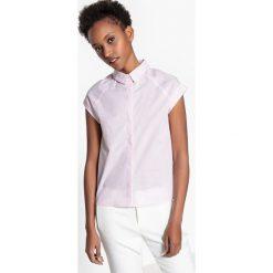 Bielizna damska: Koszula prosta kołnierz polo, wzorzysta