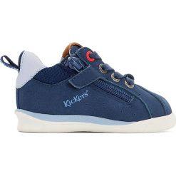 Buty sportowe CHICAGO BB. Niebieskie buty sportowe dziewczęce marki Kickers, z kauczuku, na sznurówki. Za 348,56 zł.