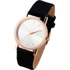 Biżuteria i zegarki: Zegarek na rękę na aksamitnym pasku bonprix czarno-złoty kolor