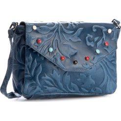 Torebka CREOLE - K10392  Niebieski. Niebieskie listonoszki damskie Creole, ze skóry, na ramię. Za 119,00 zł.