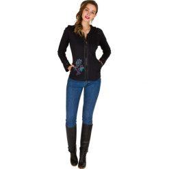 Bluzy rozpinane damskie: Bluza w kolorze czarnym
