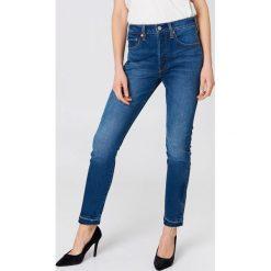 Spodnie z wysokim stanem: Levi's Jeansy Skinny 501 - Blue