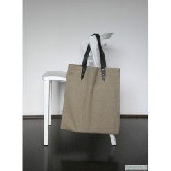 Torba lniana. Czarne shopper bag damskie marki KIPSTA, m, z elastanu, z długim rękawem, na fitness i siłownię. Za 120,00 zł.