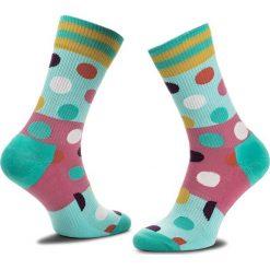 Skarpety Wysokie Unisex HAPPY SOCKS - ATBDB27-7000 Kolorowy. Szare skarpetki męskie Happy Socks, w kolorowe wzory, z bawełny. Za 47,90 zł.