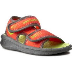 Sandały NEW BALANCE - K2031OL Orange/Lime. Brązowe sandały chłopięce New Balance, z materiału. W wyprzedaży za 69,00 zł.