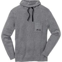 Swetry męskie: Sweter z szalowym kołnierzem Regular Fit bonprix szary melanż