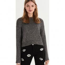 Sweter z połyskującą nicią - Srebrny. Szare swetry klasyczne damskie Sinsay, l. Za 79,99 zł.