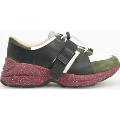 Sportowe buty ze skóry ReDesign - Wielobarwn. Białe buty sportowe damskie marki Reserved, na wysokim obcasie. Za 299,99 zł.