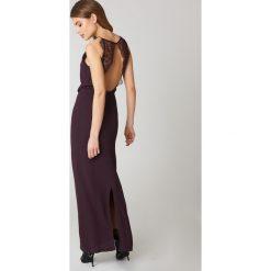 Długie sukienki: Samsoe & Samsoe Długa sukienka Willow - Purple