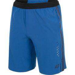 Spodenki sportowe męskie: Spodenki treningowe męskie SKMF255 - niebieski