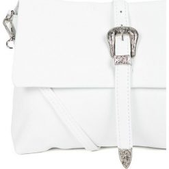 Answear - Torebka skórzana. Szare torebki klasyczne damskie marki ANSWEAR, w paski, z materiału, średnie. W wyprzedaży za 149,90 zł.