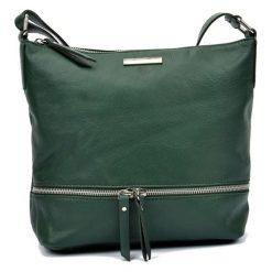 Torebki klasyczne damskie: Skórzana torebka w kolorze zielonym – (S)24 x (W)32 x (G)11,5 cm