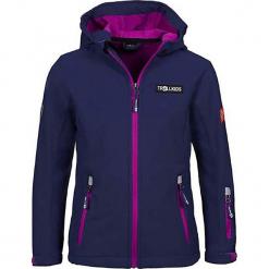 """Kurtka softshellowa """"Oslofjord"""" w kolorze granatowo-różowym. Niebieskie kurtki dziewczęce przeciwdeszczowe marki Trollkids. W wyprzedaży za 125,95 zł."""