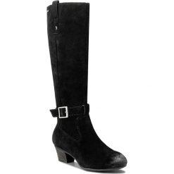 Kozaki CLARKS - Melanie Hi GTX GORE-TEX 261115064 Black Nubuck. Czarne buty zimowe damskie Clarks, z gore-texu, przed kolano, na wysokim obcasie, na obcasie. W wyprzedaży za 369,00 zł.