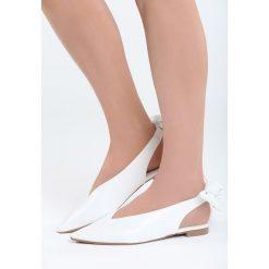 Białe Balerinki Have You Ever. Białe baleriny damskie marki Born2be, z materiału, na obcasie. Za 69,99 zł.