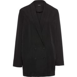 Żakiet koszulowy bonprix czarny. Brązowe marynarki i żakiety damskie marki bonprix. Za 69,99 zł.