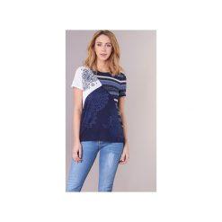 T-shirty z krótkim rękawem Desigual  NONDEJOI. Niebieskie t-shirty damskie marki Desigual, m. Za 186,75 zł.