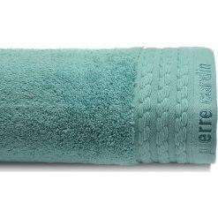 Kąpielówki męskie: Ręcznik w kolorze morskim