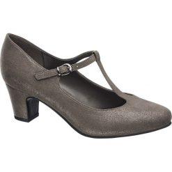 Czółenka damskie Graceland popielate. Szare buty ślubne damskie Graceland, z materiału, na obcasie. Za 89,90 zł.