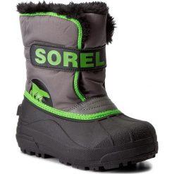 Buty zimowe chłopięce: Śniegowce SOREL – Childrens Snow Commander NC1877 Quarry/Cyber Green 052