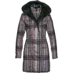 Płaszcz pikowany bonprix antracytowy melanż w kratę. Szare płaszcze damskie pastelowe bonprix, melanż. Za 239,99 zł.
