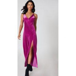 Sukienki: Free People Sukienka aksamitna Maxi Spliced - Pink