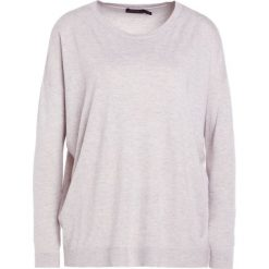 Polo Ralph Lauren FINE GAUGE BLEND Sweter stone grey heathe. Szare swetry klasyczne damskie Polo Ralph Lauren, l, z materiału, polo. Za 549,00 zł.