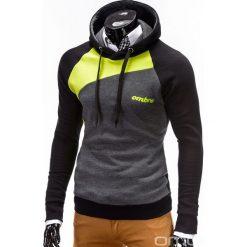 BLUZA MĘSKA Z KAPTUREM MIGUEL - ZIELONA. Zielone bluzy męskie rozpinane marki Ombre Clothing, m, z bawełny, z kapturem. Za 79,00 zł.