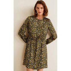 Mango - Sukienka Jasmine. Szare długie sukienki Mango, na co dzień, l, z materiału, casualowe, z okrągłym kołnierzem, z długim rękawem, proste. Za 199,90 zł.