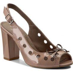 Rzymianki damskie: Sandały ANN MEX – 8020 02LR+12LS Pudrowy Róż