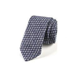Krawat męski  JEDWAB KÓŁKA. Niebieskie krawaty męskie HisOutfit, z jedwabiu. Za 129,00 zł.