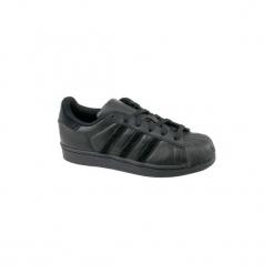 Buty Dziecko adidas  Superstar J BZ0358. Czarne trampki chłopięce Adidas. Za 269,99 zł.