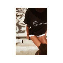 Koszulka z nadrukiem Bala Island Tee Black. Czarne t-shirty damskie Bala-lifestyle, l, z nadrukiem, z bawełny. Za 99,00 zł.