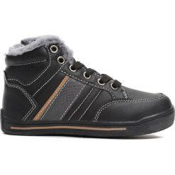 Czarne Buty Sportowe Bowing. Czarne buty sportowe chłopięce Born2be, z materiału, z okrągłym noskiem, na zamek. Za 59,99 zł.