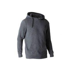 Bluza z kapturem Gym & Pilates 900 męska. Szare bluzy męskie rozpinane marki DOMYOS, m, z bawełny, z kapturem. W wyprzedaży za 54,99 zł.