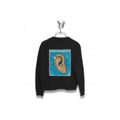 Bluza Ucho Van Gogha Męska. Szare bluzy męskie marki Button. Za 160,00 zł.
