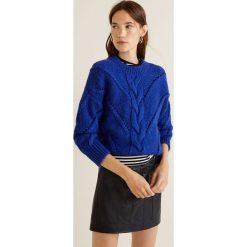Mango - Sweter Centric. Niebieskie swetry klasyczne damskie Mango, l, z dzianiny, z okrągłym kołnierzem. Za 159,90 zł.